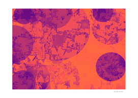 geometric circle abstract in orange and purple