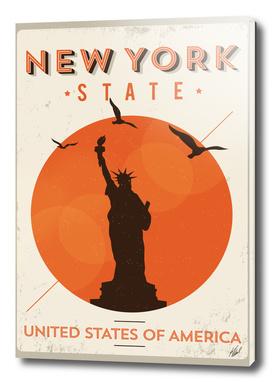 Vintage New York Poster Design