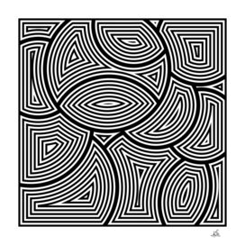 Monochrome Geometric Art