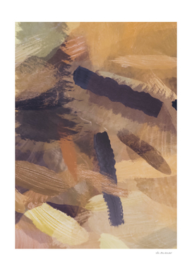 splash brush painting abstract in brown and black