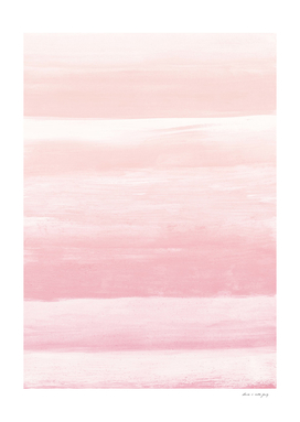 Blush Watercolor Abstract Minimalism #1 #minimal #painting