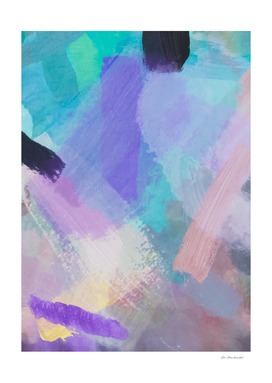 splash brush painting abstract in pink purple blue