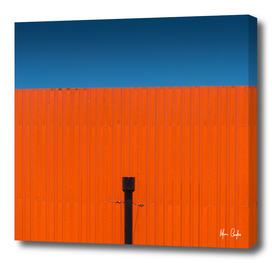 Orange, complementary blue sky - one