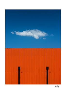 Orange, complementary blue sky
