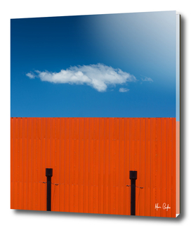 Orange, complementary blue sky