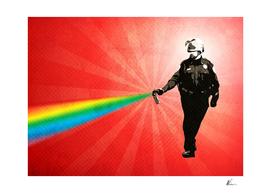 Pepper Spray Cop Rainbow | Pop Art