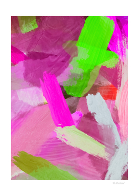 brush painting texture abstract in pink and green