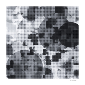 geometric circle pattern abstract in black and white