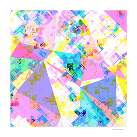colorful geometric triangle abstract background