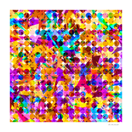 colorful splash geometric shape abstract