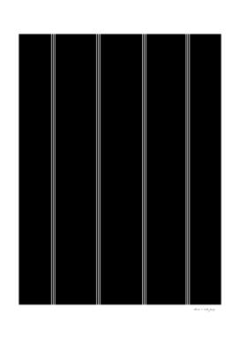 Minimal Black White Stripe Glam #1 #lines #decor #art
