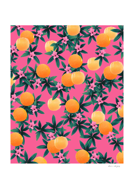 Orange Twist Flower Vibes #1 #tropical #fruit #decor #art
