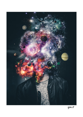 Space galaxy head by GEN Z