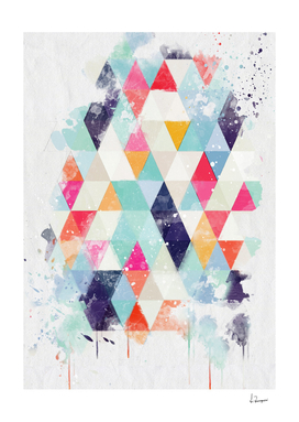 watercolor triangle II