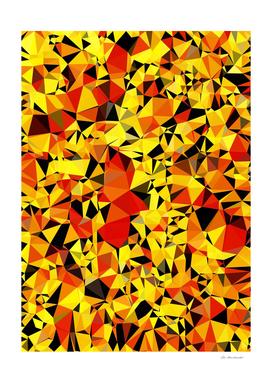 geometric triangle abstract in orange yellow