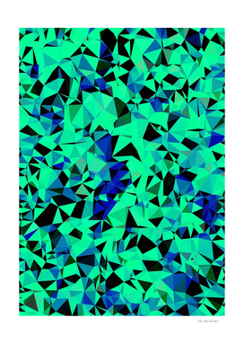 geometric triangle abstract in green and blue