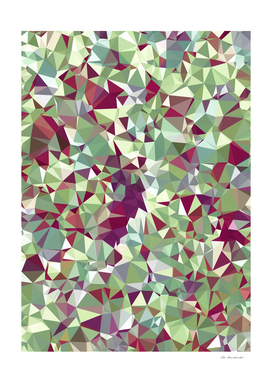 geometric triangle abstract in pink and green