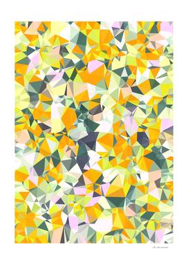 geometric triangle pattern abstract in orange