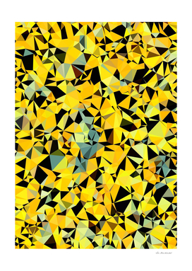geometric triangle pattern abstract in yellow