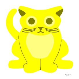 Sad Yellow Cat