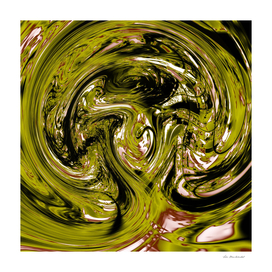 splash spiral painting abstract in green