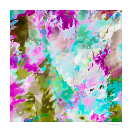 splash painting texture abstract in purple pink green