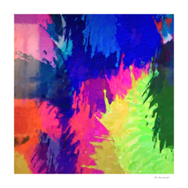 splash painting texture abstract in blue pink green yellow