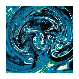 splash spiral painting abstract in blue