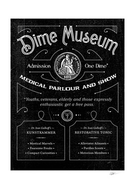 Dime Museum Playbill