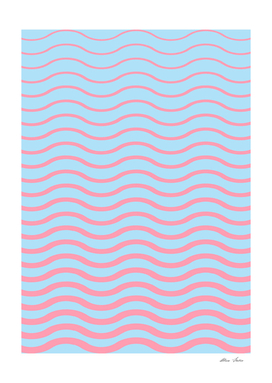 Waves Summer Pattern, geometric abstract