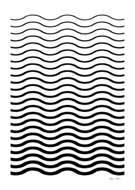 Waves Pattern, Geometric, Abstract, black and white