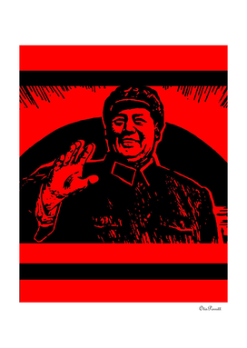 Chairman Mao receiving the Red Guards 2A
