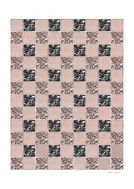 Blush Check Glitter Glam #1 #geometric #decor #art