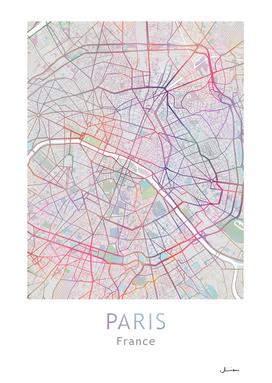 Paris Map Color