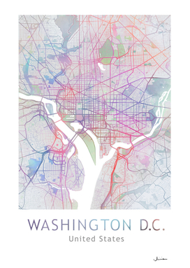 Washington DC City Map in Colors
