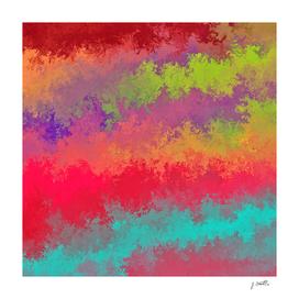 Liquid rainbow, abstract painting