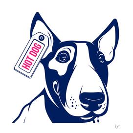 Bull Terrier Hot Dog
