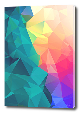Face The Rainbow // Abstract Colorful Geometric Polygonal