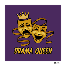 Drama Queen Comedy And Tragedy Gold Theater Masks