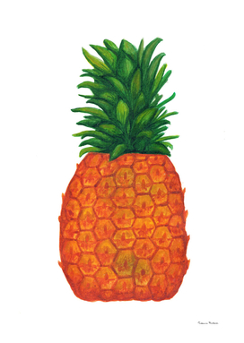 Bright juicy pineapple. Tropical fruit