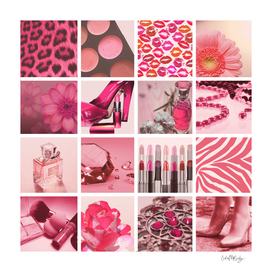 Pink & Girly Fashion Collage