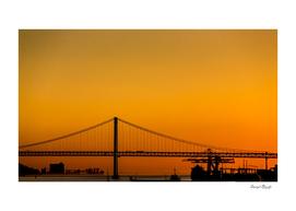 Golden Light on Lisbon Bridge