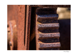 Gear on Old Rusty Machinery