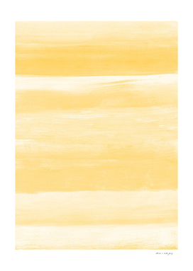 Yellow Watercolor Abstract Minimalism #1 #minimal #painting