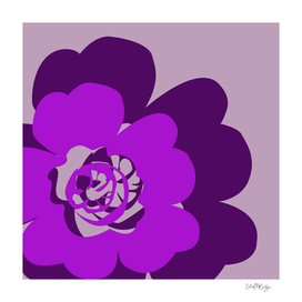 Purple Abstract Flowers Lavender Background