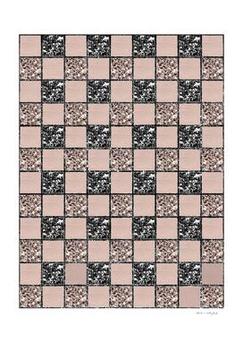 Blush Check Glitter Glam #2 #geometric #decor #art