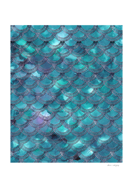 Teal Purple Mermaid Scales Glam #1 #shiny #decor #art