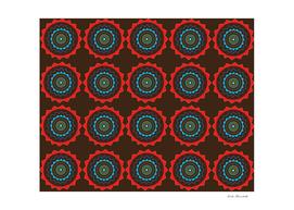 Brown Red Mandala Art