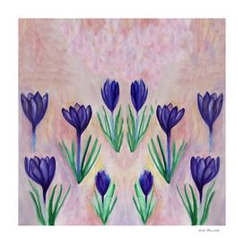 Crocus Flower Floral Pattern