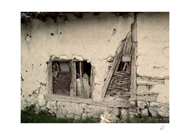 Ruined old house